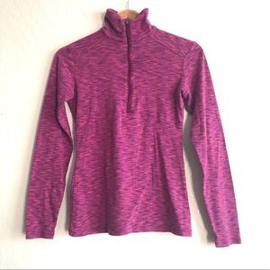 Columbia half zip up purple pink long sleeved top